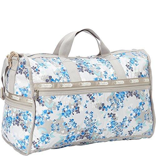 LeSportsac Large Weekender Duffel Bag (Flower Cluster Khaki) by