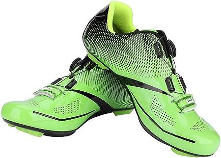 Alomejor 1 par de Zapatos de Ciclismo de Moda Antideslizantes SPD Lock System Zapatos de Ciclismo Transpirable Zapatos de Bicicleta de Carretera Hombres Adultos