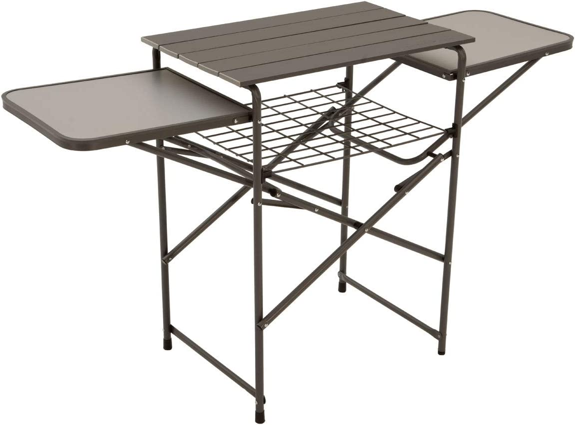 One Size Camp Kitchen Camping Cooking Folding Table and Shelf Eureka