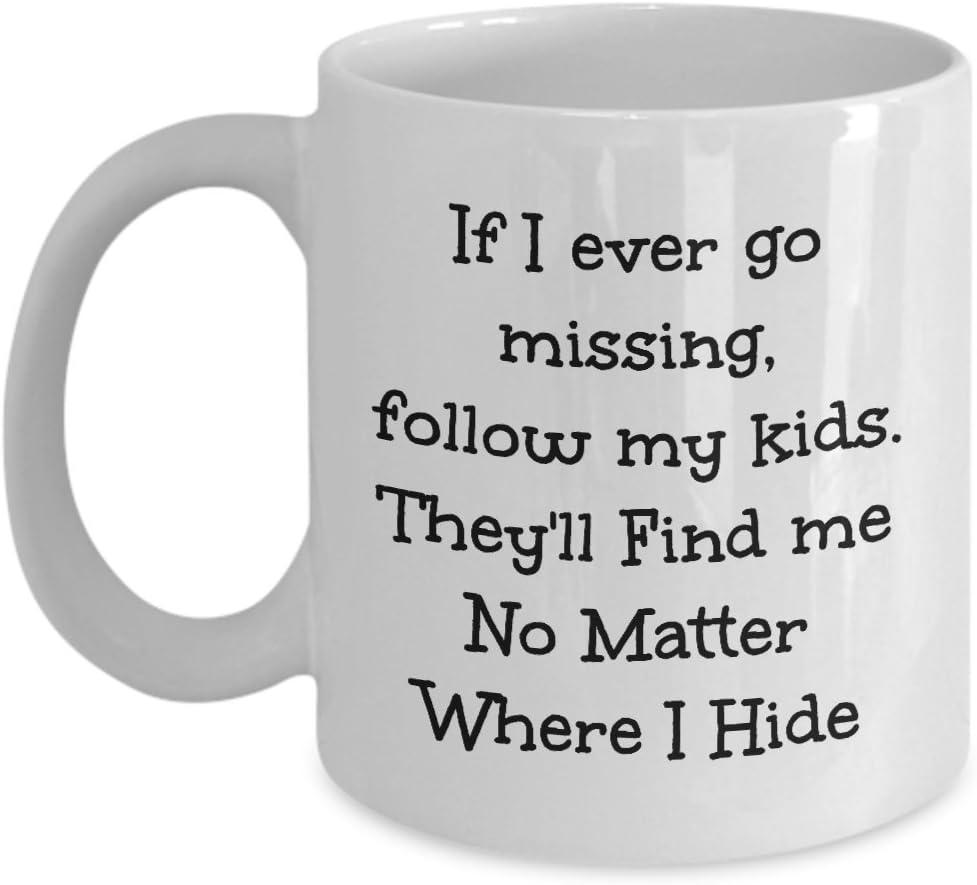com funny coffee mugs if i ever go missing follow my