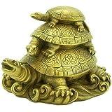 Odishabazar Vastu Feng Shui Three Tiered Tortoises For Longevity Showpiece - 7.6 cm