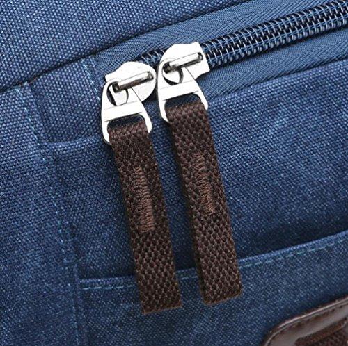 ZC&J 26L capacidad bandolera, bolsas bolsa de mensajero de usos múltiples recorrido de la lona, bolsos de mano para los hombres y las mujeres usan sólida cero simple y práctico,A,26L B
