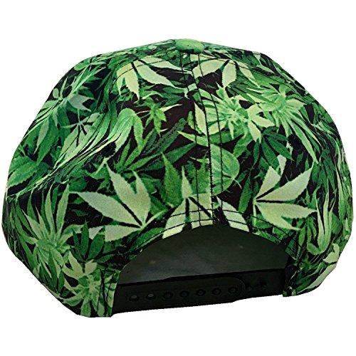 plantas de Gorra con visera King con de unisex plana BAD Ice diseño de marihuana qHrAqxz