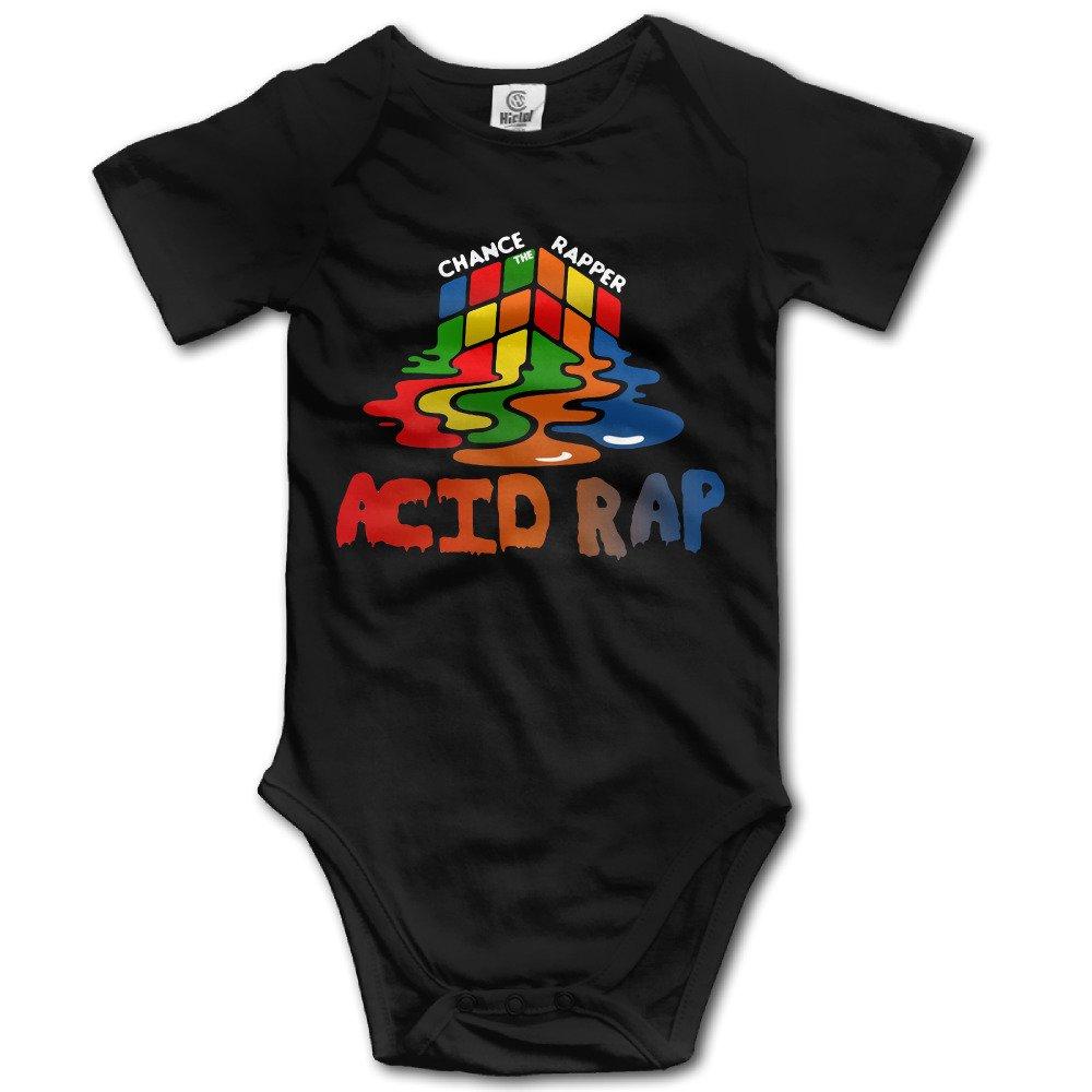 Boss-Seller Chance The Rapper Acid Rap Short Sleeve Romper Vest For 6-24 Months Infant Black