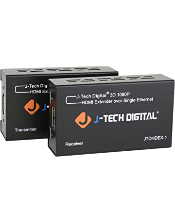 J-Tech Digital HDMI Extender By Single Cat 5E/6/7 Full Hd
