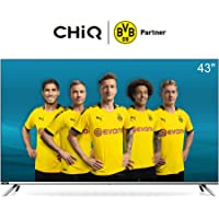 CHiQ L43H7 LED Smart TV, FHD, 43 Inch, Android 9.0, HDR10, A+ Screen, WiFi, Bluetooth 5.0, Netflix, YouTube, Prime Video, Full screen display, HDMI, USB