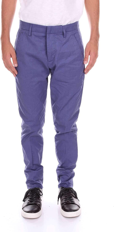 Dondup Luxury Fashion Mens Pants Spring Blue