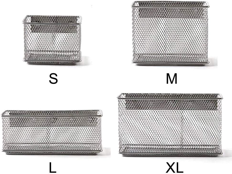 accessori per chiusura S Desk Caddy ufficio lavagna bianca Portapenne magnetico in rete metallica per frigorifero