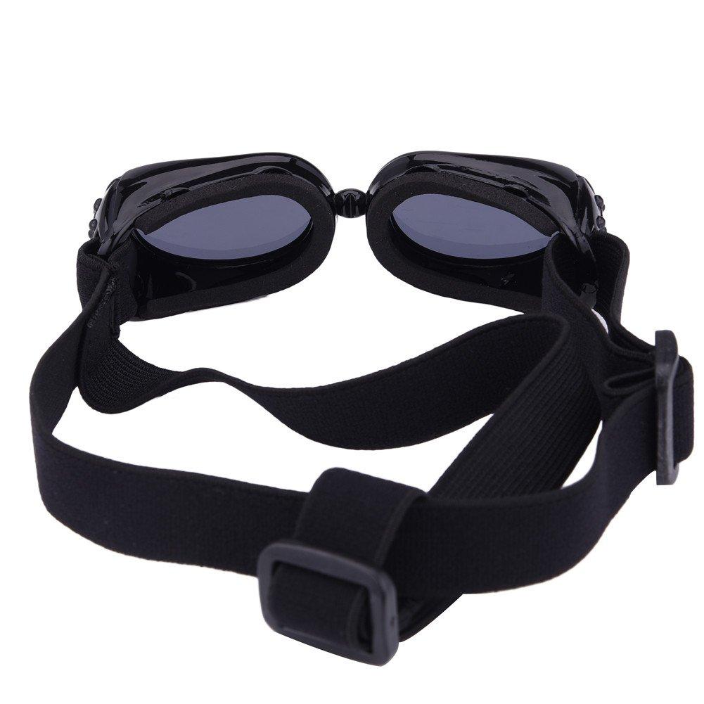 Gafas de sol para mascotas, con protección UV, impermeables, cortavientos y con efecto antivaho para mascotas pequeñas: Amazon.es: Productos para mascotas