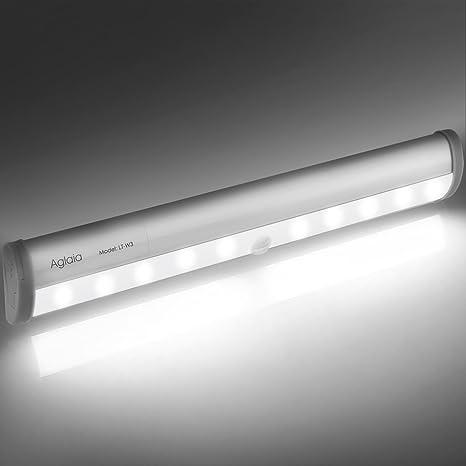 Aglaia Lámpara LED del Armario, 10 LEDs Barra de Luz Inalámbrica con ...