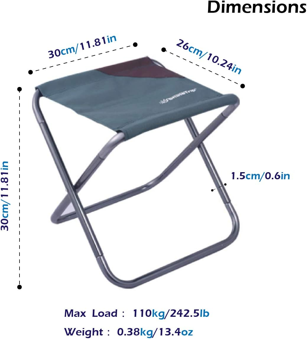 TRIWONDER Mini Folding Camping Stool Compact Traveling Foot Stool Lightweight /& Portable Camp Chair Foldable Outdoor Chairs for Travel Picnic Camping Hiking Backpacking