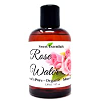 Premium Organic Moroccan Rose Water - 4oz - Imported from Morocco - 100% Pure (Food...
