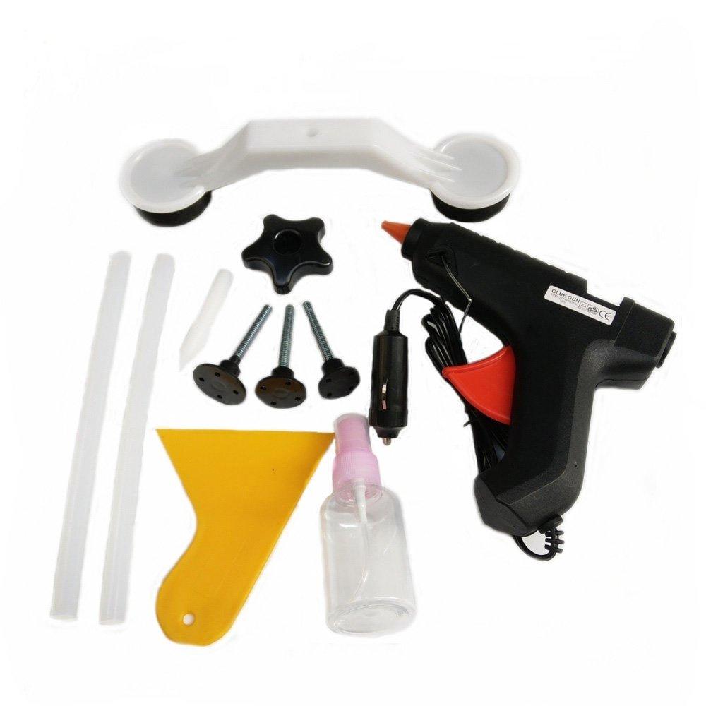 Auto Dent Repair Tools Hail Dent Removal Tools Set,12V Car Cigarette Lighter Charging Glue Gun,Bridge Puller,Glue Tabs,Glue Sticks,Dent Removal Pen etc. (11pcs)