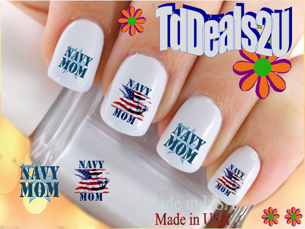 Amazon.com: Military - Navy Anchor USN Nail Decals - WaterSlide Nail ...