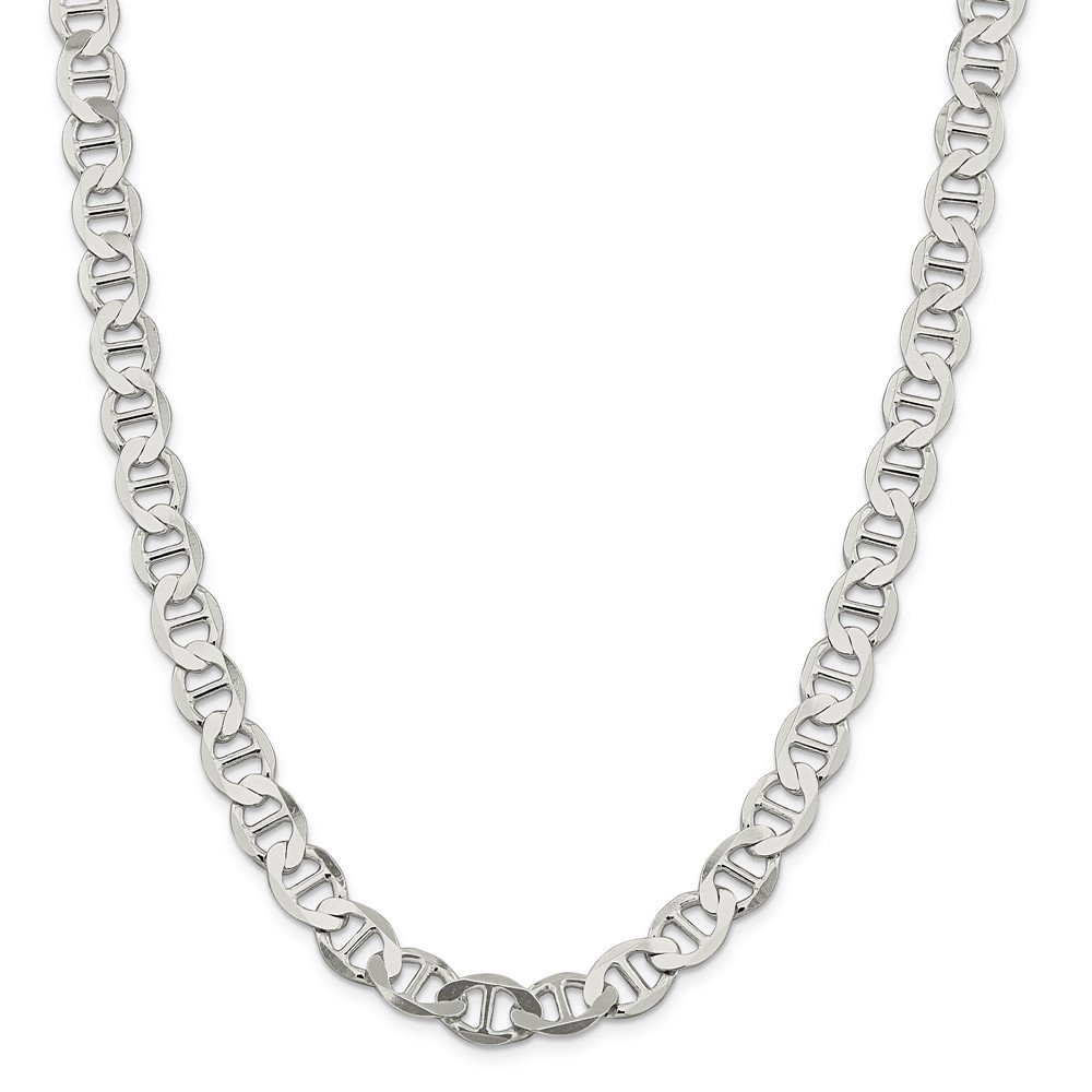 Mireval Sterling Silver Anchor Style Chain Necklace Collection