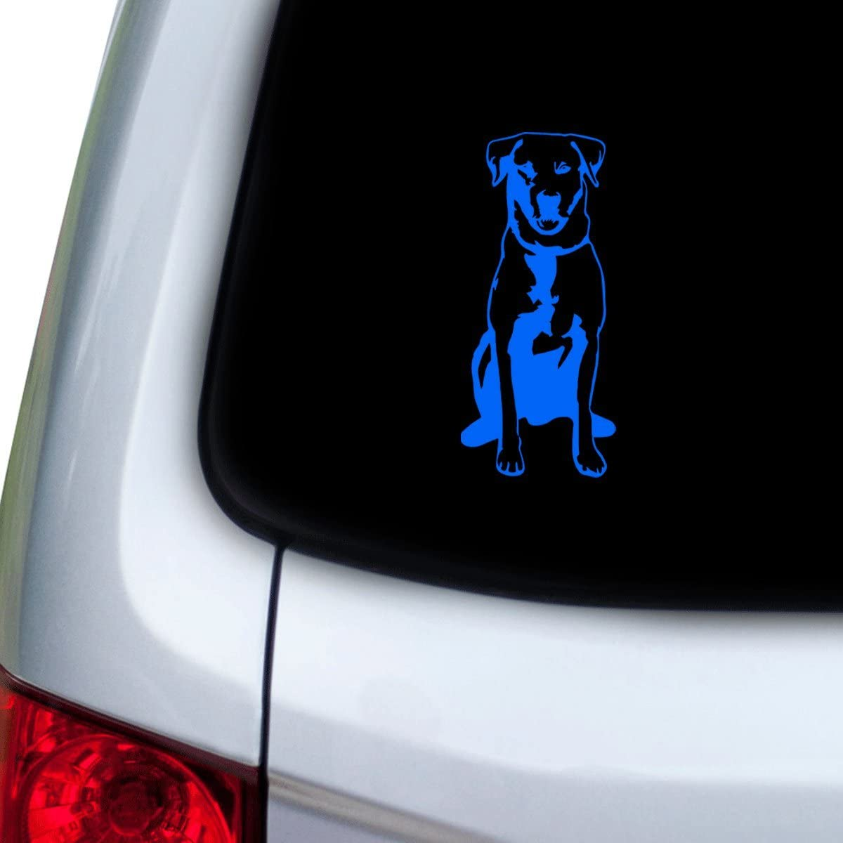 White Doors Hoods StickAny Car and Auto Decal Series Labrador Style 5 Sticker for Windows