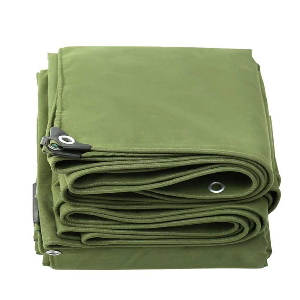 テントの防水シート ターポリンアーミーグリーン厚0.75mm、650g/m²防水多機能防水ターポリン それは広く使用されています (サイズ さいず : 4*10m) 4*10m  B07D6N7C9G
