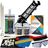 Concrete Foundation Crack Repair Kit - Mid-Range Viscosity Polyurethane - FLEXKIT-1100-10