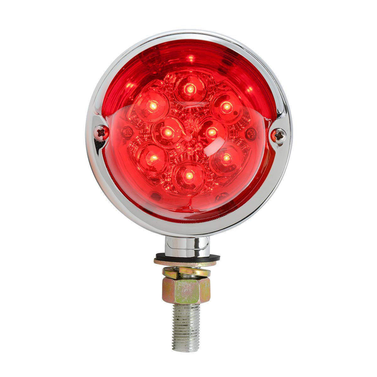 GG Grand General 77923 LED Light Spyder Red with Clear Rim and Visor, 2 Function