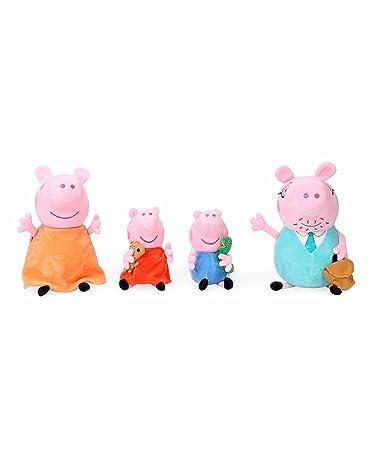 Peppa Pig Family Plush Gift Box Combo, Multi Color