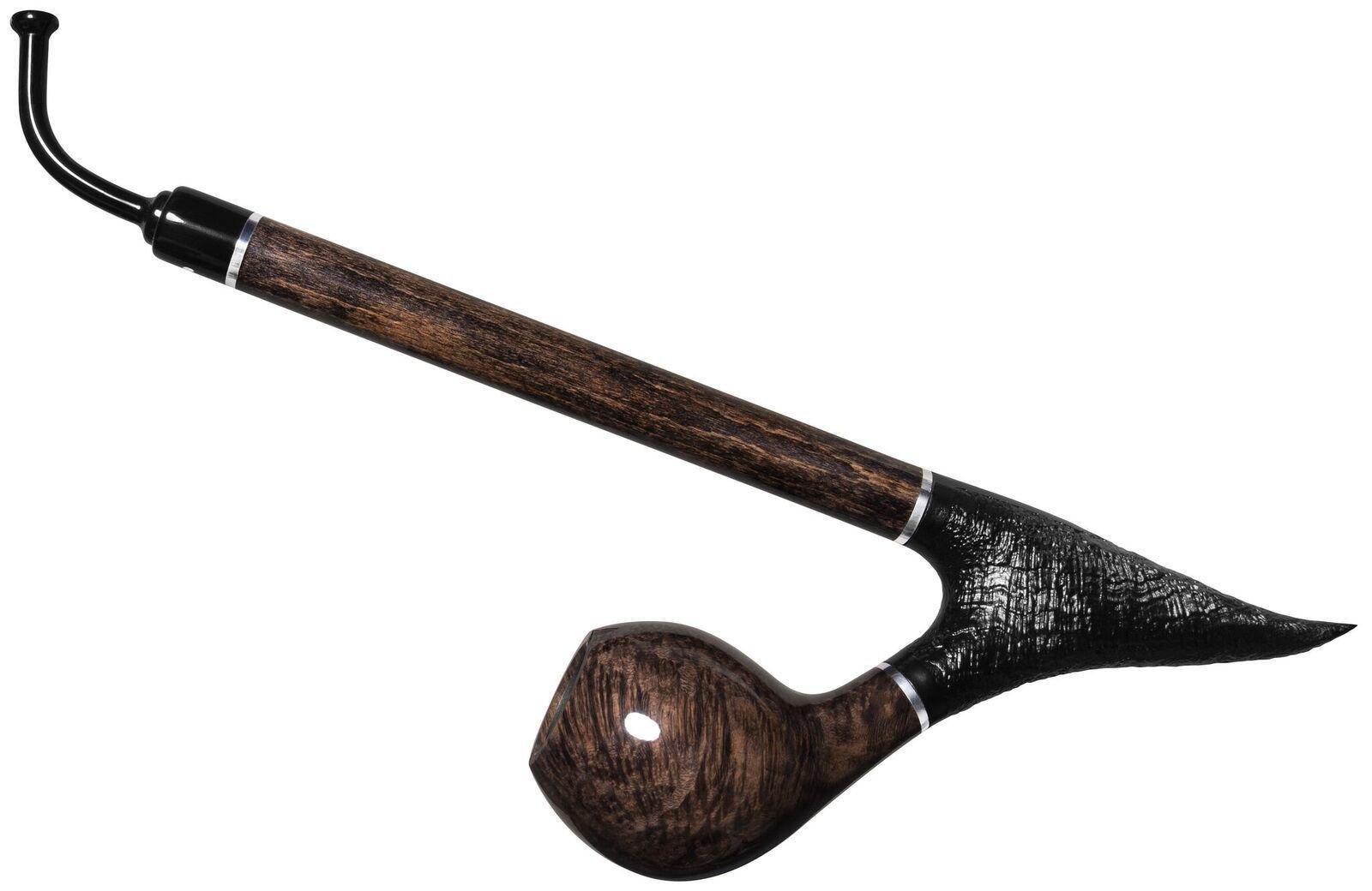 Vauen Enzian Long Churchwarden Pipe (Grey)
