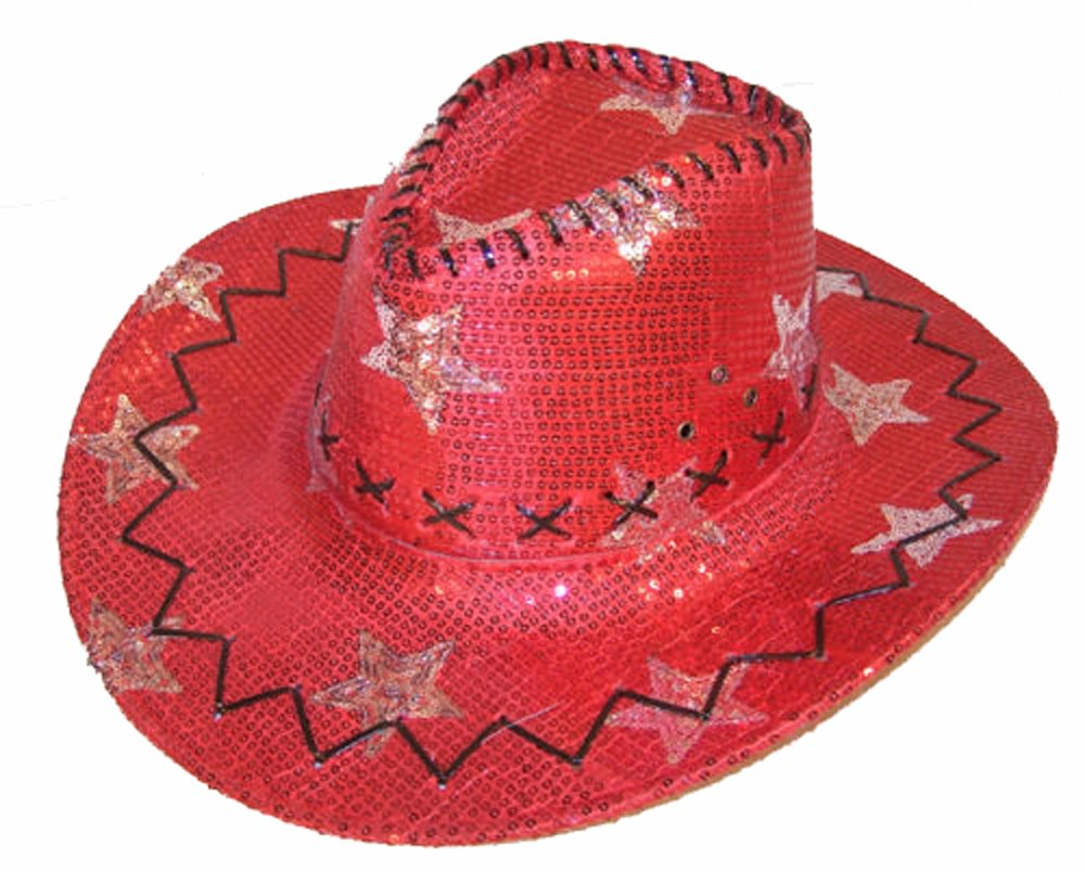 Amazon.com   Red Sequins with Stars Mens or Womens Western Style Cowboy   Cowgirl  Hat   Everything Else 053e97c5ead