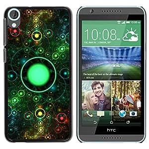 Be Good Phone Accessory // Dura Cáscara cubierta Protectora Caso Carcasa Funda de Protección para HTC Desire 820 // On Eye Universe Ring Space Abstract