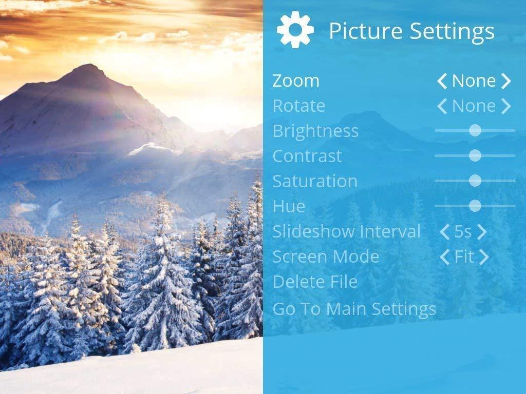 Control Remoto Magn/ético Rotaci/ón Autom/ática Mezcle Fotos y Videos en la Misma Presentaci/ón Soporte Vertical u Horizontal Marco de Fotos Digital USB NIX de 15.6 Pulgadas Resoluci/ón Full HD