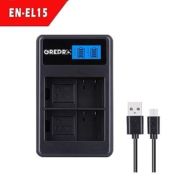 Amazon.com: Grepro - Cargador de batería para cámara de ...