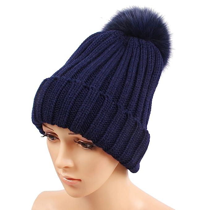 Sombrero De Punto Otoño E Invierno Damas Multicolores Salvaje Peluca Grande Gorro De Lana Rizado Engrosamiento