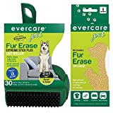Evercare Pet Fur Erase Bundle: Extreme Stick Lint Roller & Reusable Sponge