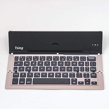 Teclado Ultrafino inalámbrico Bluetooth Teclado Plegable Soporte ...