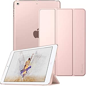 Fintie Case for iPad Mini 3/2 / 1 - Lightweight Smart Slim Shell Translucent Frosted Back Cover Protector Supports Auto Wake/Sleep for iPad Mini 1 / Mini 2 / Mini 3, Rose Gold