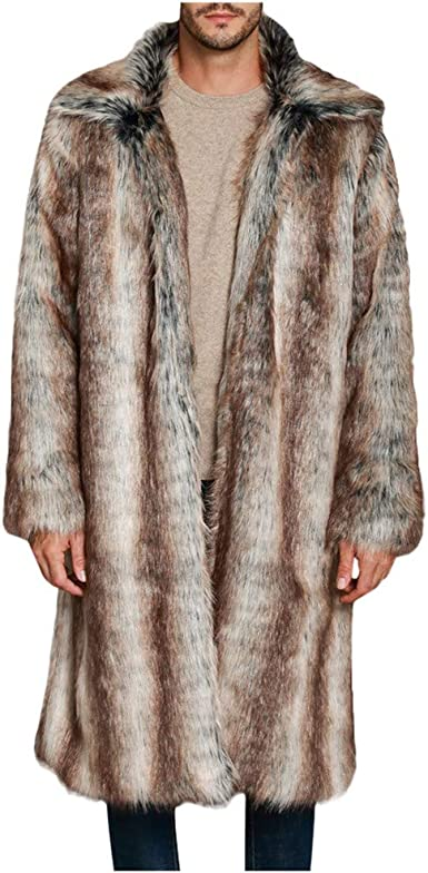 Himtak Mens Jacket Warm Winter Trench Long Outwear Button Smart Overcoat Coats Windbreaker Jacket