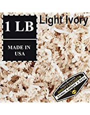 Mighty Gadget (R) 0.5kg Light Ivory Crinkle Cut Paper Shred Filler for Gift Wrapping & Basket Filling
