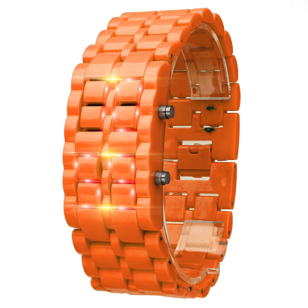 SMALLE ◕‿◕ Digital Watches for Women Men, Women Simple Pixel Design Metal Bracelet Watch Led Digital Watches