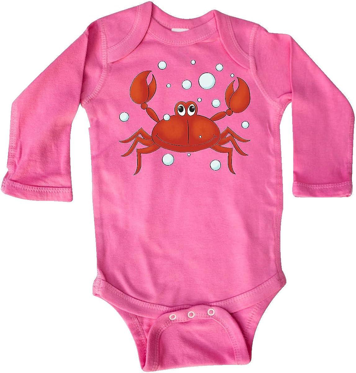 inktastic Gideons Crab Long Sleeve Creeper