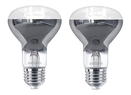 2 x 6 W LED R63 Reflector bombilla E27 blanco frío focos halógenos de repuesto para