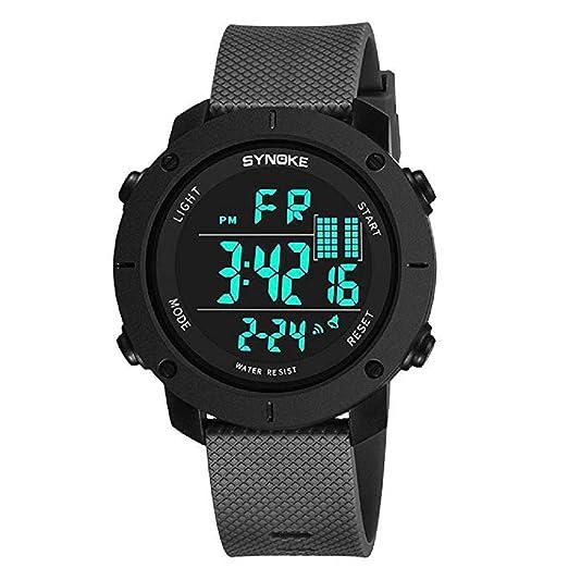 Mens Digital Relojes Deportivos Pantalla LED Multifunción 50M Relojes Militares de Doble acción a Prueba de Agua y Casual Luminoso Simple Reloj del ejército ...