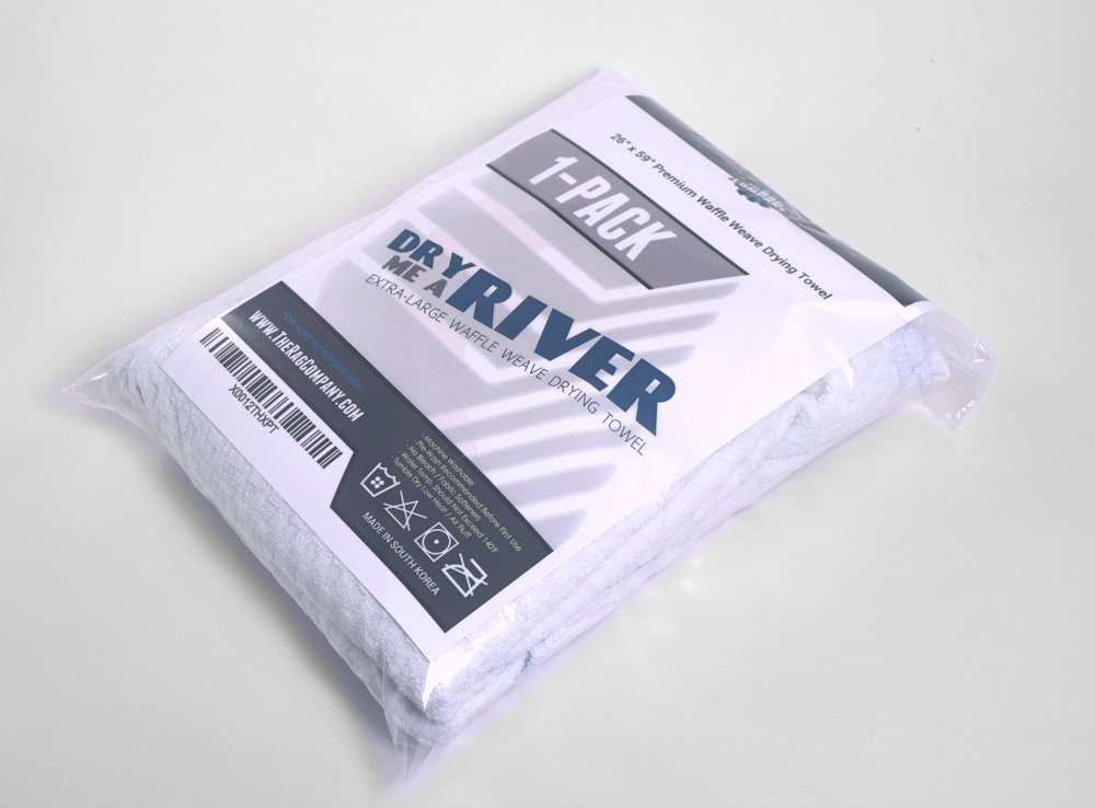 THE RAG COMPANY Huge ''Dry Me A River'' 26 in. x 59 in. Professional Korean 70/30 Microfiber Waffle-Weave Drying & Detailing Towel