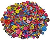 BUMPER Pack of Craft Buttons - 1000g of Assorted Colours and Sizes - Fantastic for all craft activities, Collage, Knitting, Crochet, Sock Puppets, Counting, Colour or Size Sorting