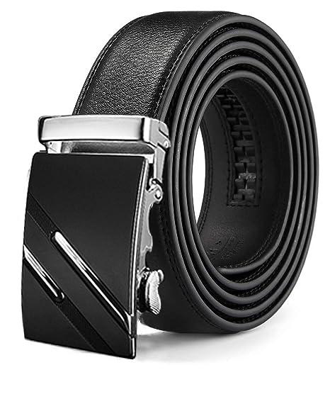 Gürtel Automatik Herrengürtel Schnalle Jeans oder Anzug echte Leder kürzbar