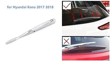 YUZHONGTIAN Molduras para limpiaparabrisas Trasero de Kona 2017, plástico ABS Cromado, 4 Unidades
