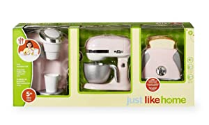 just like home Kids Kitchen Pink Appliance Set