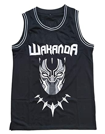 a76d34a3075 Amazon.com  Supereasydeal  1 Black Panther Wakanda T Challa Movie Basketball  Jersey Men Black  Clothing