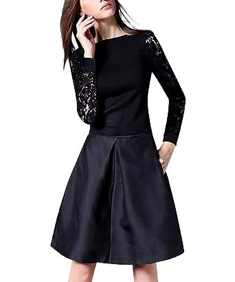 ZhuiKun Mujer Falda Plisada Cintura Alta Falda de Playa Faldas ...