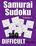 Samurai Sudoku Difficult Puzzles - Volume 1: 100 Difficult Samurai Sudoku Puzzles for the Experienced Solver (Number Puzzle Fun)