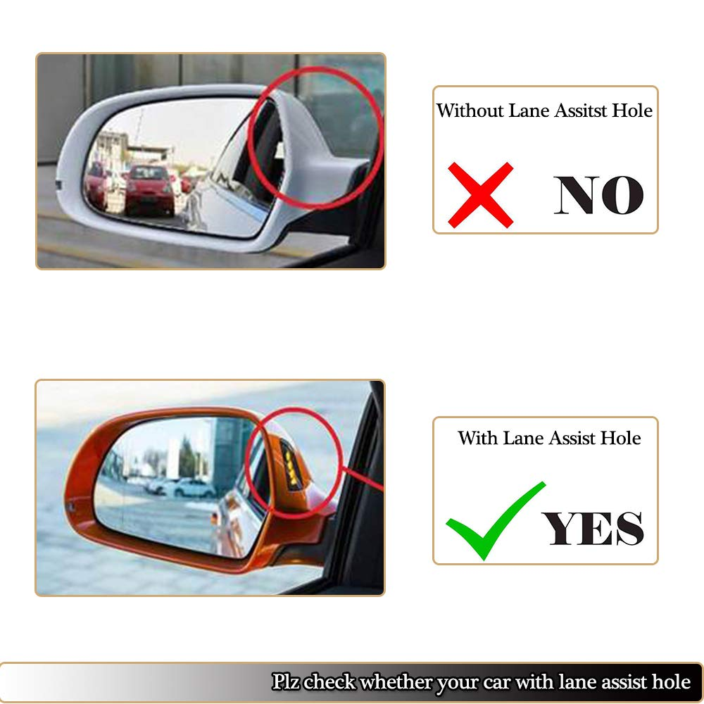 MCARCAR KIT Mirror Cover fits Audi A6 C7 Sline S6 RS6 Sedan 2012-2015 Replacement Carbon Fiber Rearview Side Rearview Mirror Caps Car Exterior Outside Shell 2pcs//pair with Side Lane Change Assist