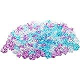 SODIAL(R) Plastique pierre Decoration d'aquarium, 150 Pieces, Bleu / rose / blanc