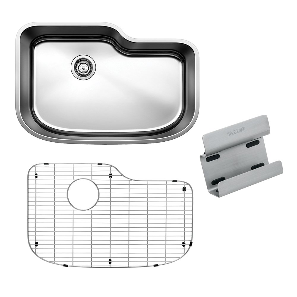 Blanco 441641 One Single Bowl with Organizing Kit, X-Large, Stainless Steel